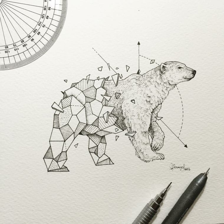 Ideas Para Tatuajes Diseños Geométricos De Kerby Rosanes