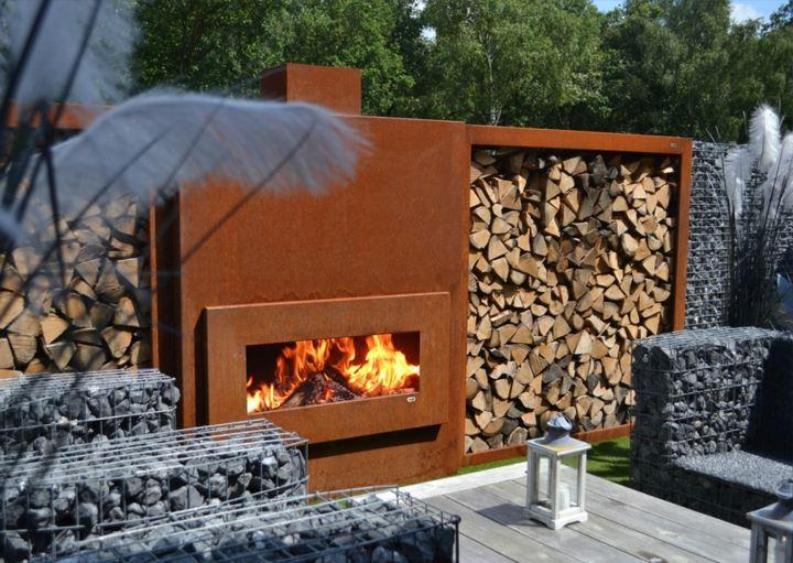 paisajismo chimeneas corten acero especiales