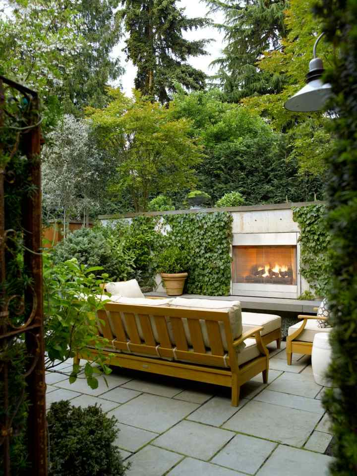 paisajismo chimeneas naturales ambientes maderas