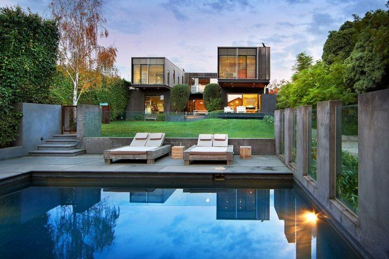 Paisajes hermosos en jardines con dise o moderno - Diseno jardines modernos ...