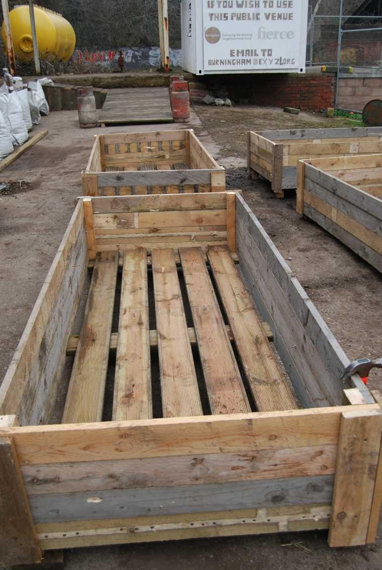 palets reciclados cama cultivo