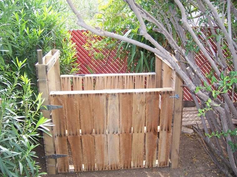 palets reciclados recipiente plantas