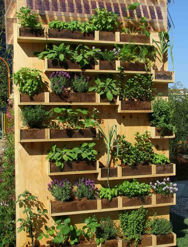 Huerto vertical 34 maneras de sembrar vegetales - Huerto vertical casero ...