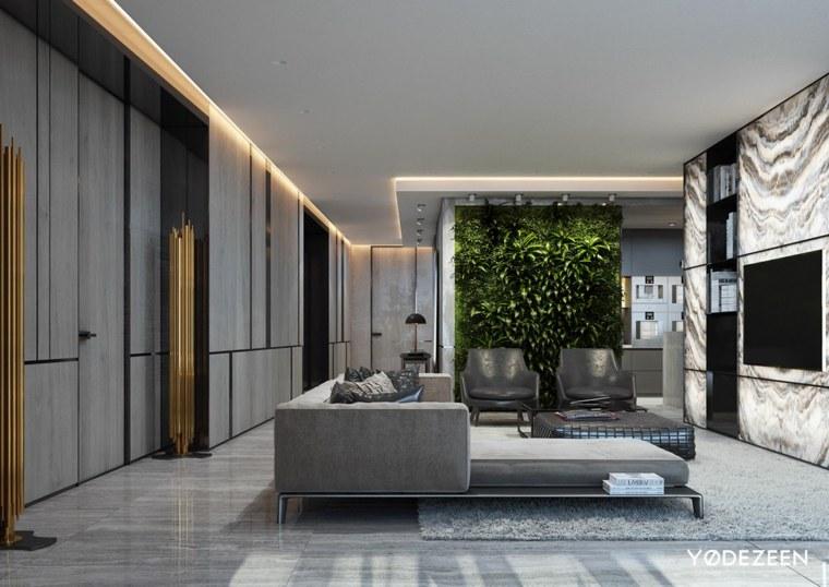 pared verde jardin vertical salas