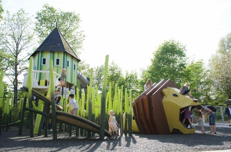parque de juegos infantil león