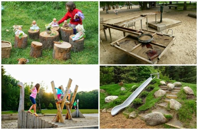 parques infantiles diy madera jardn