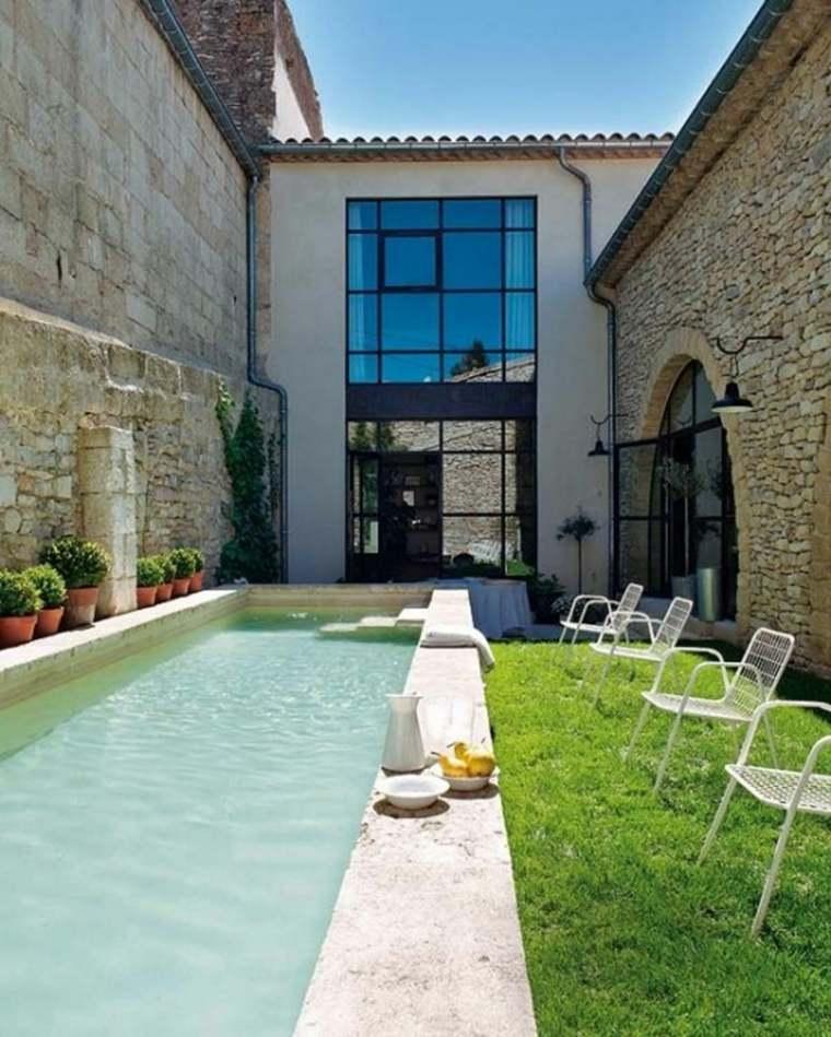 patio estilo lujoso piscina moderna