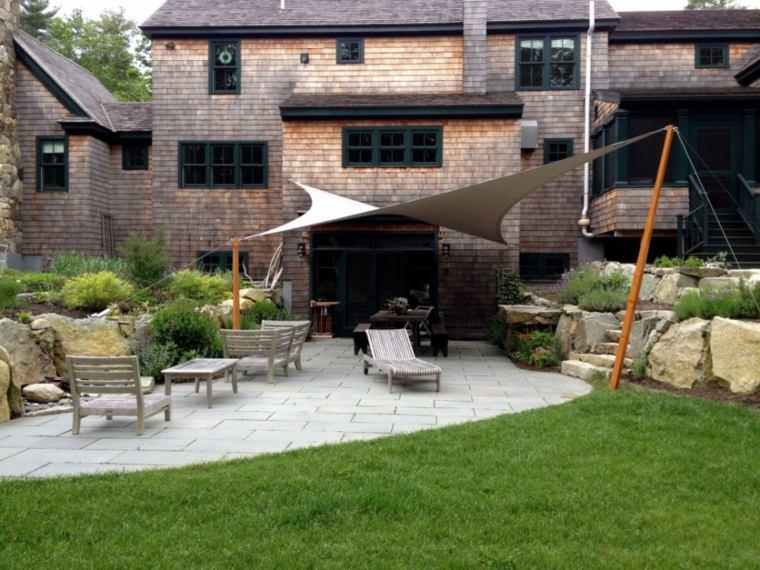 patio diseño moderno toldo