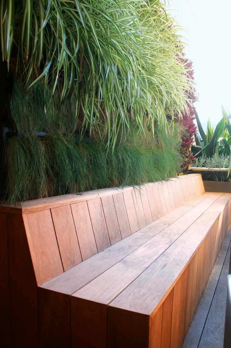 paredes decoracion macetas lugar para sentarse ideas