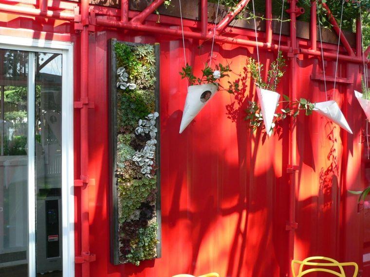 paredes decoracion macetas plantas vertical jardin ideas