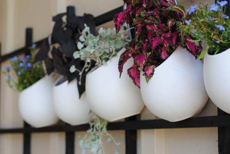 peredes decoracion macetas preciosas blancas ideas