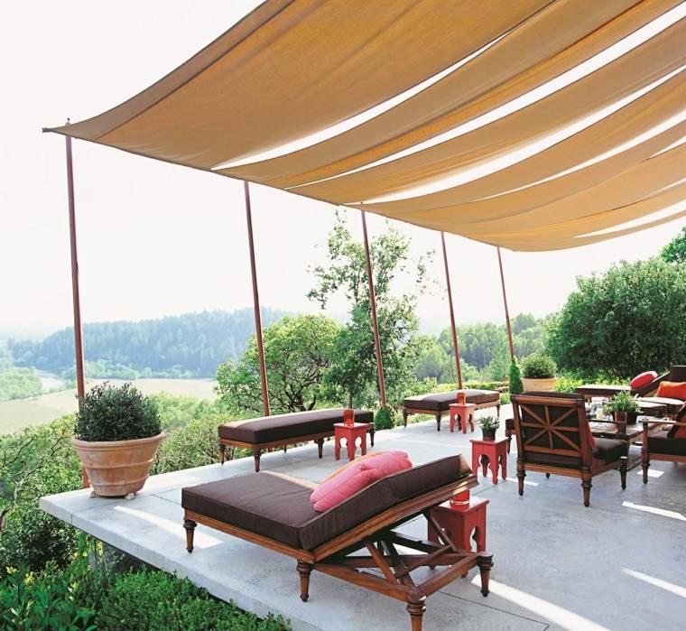 P rgolas dise o moderno para jardines y terrazas - Pergolas de lona para jardin ...
