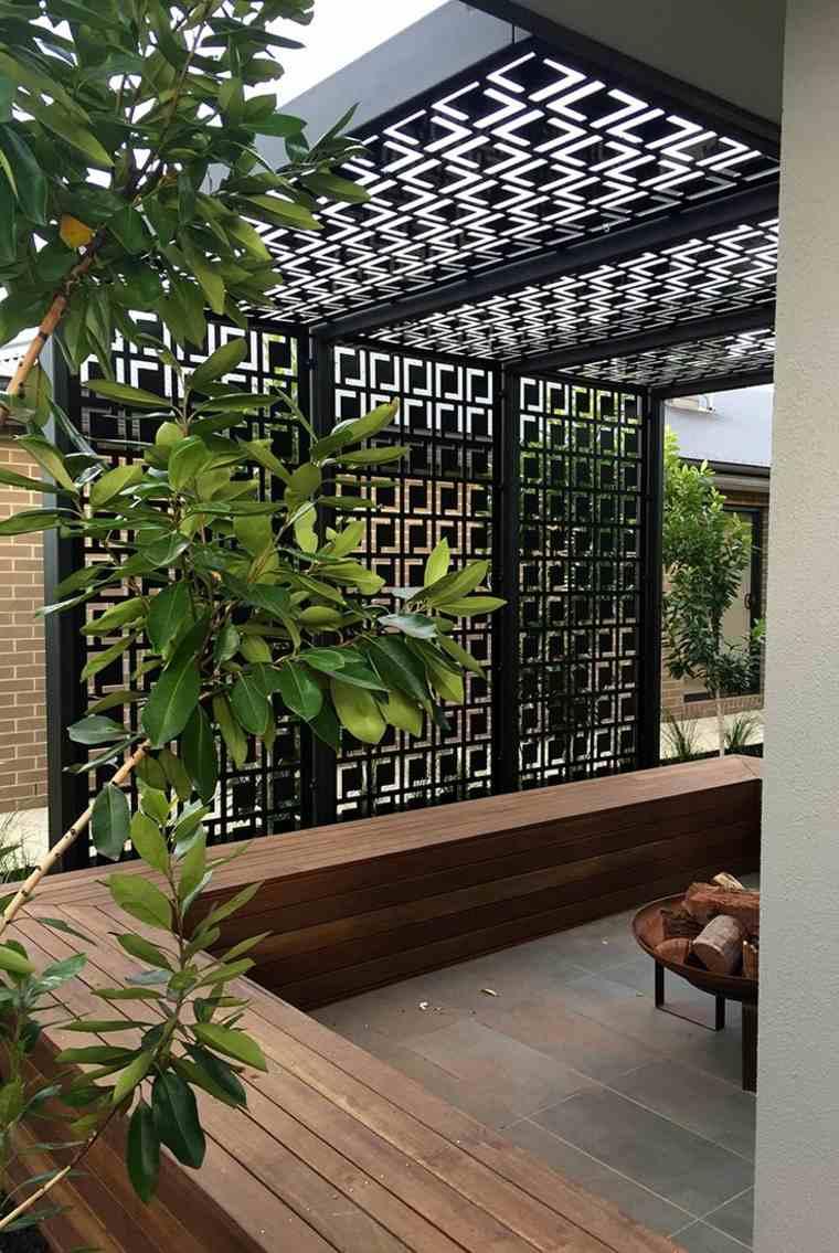 P rgolas dise o moderno para jardines y terrazas - Jardines diseno moderno ...