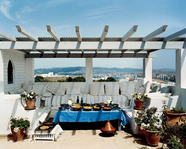 pergolas diseno moderno jardin terraza estilo griego ideas