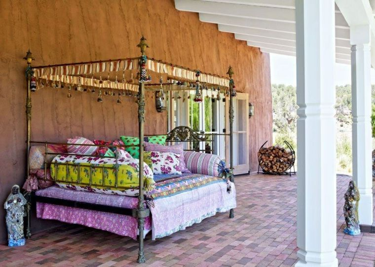 pergola diseno moderno jardin terraza estilo mexicano ideas