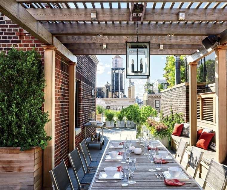 P rgolas dise o moderno para jardines y terrazas for Muebles para terraza al aire libre