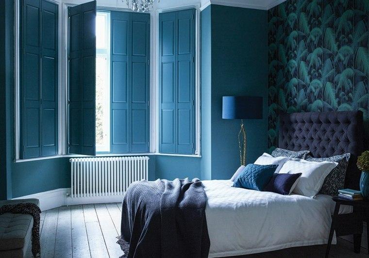 persiana dormitorio moderno color azul