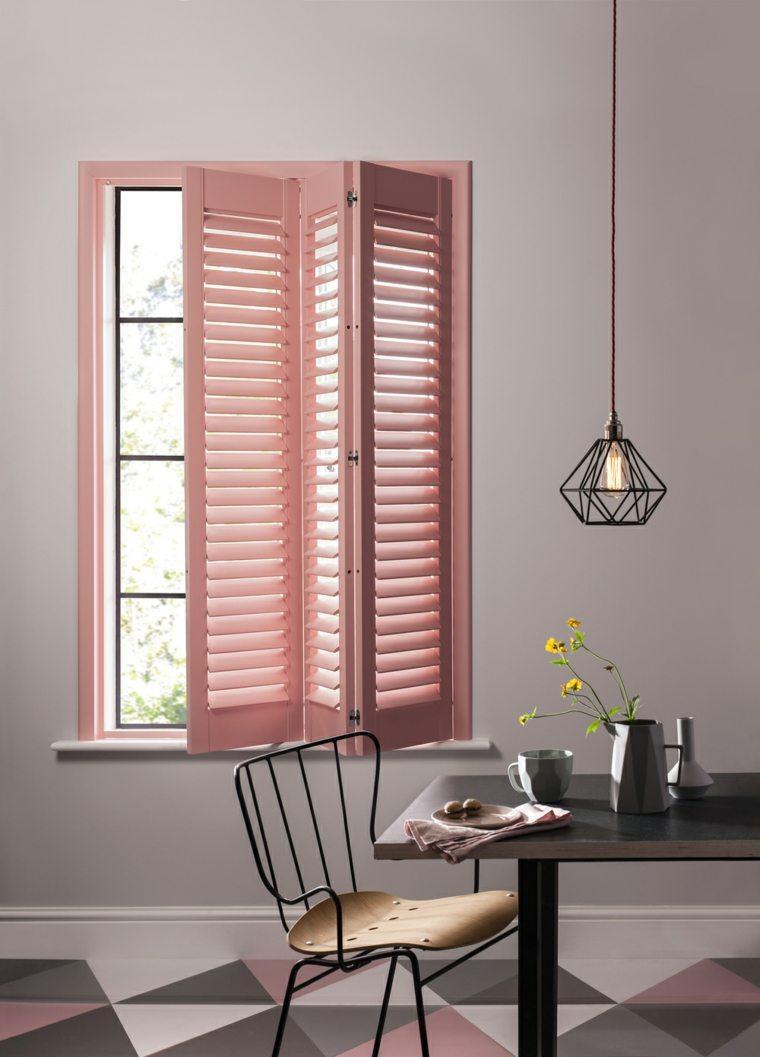 persianas modernas color rosa