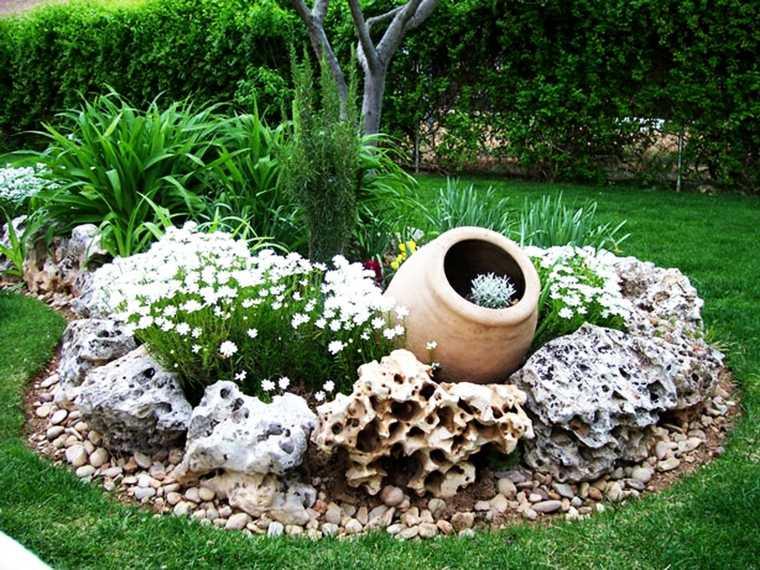piedra artificial decorativa hueca jarrón