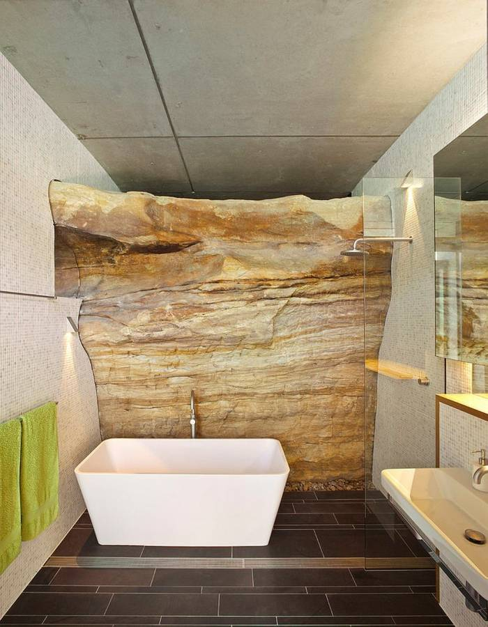 Piedra natural ideas geniales para diferentes dise os de for Banos con piedra natural
