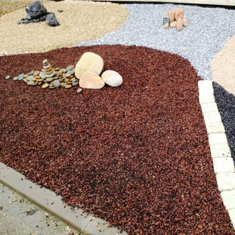 piedra volcánica para jardín formas