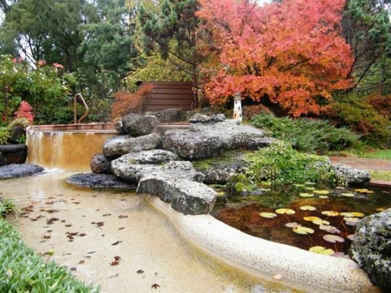 piedras decorativas estanque rocas