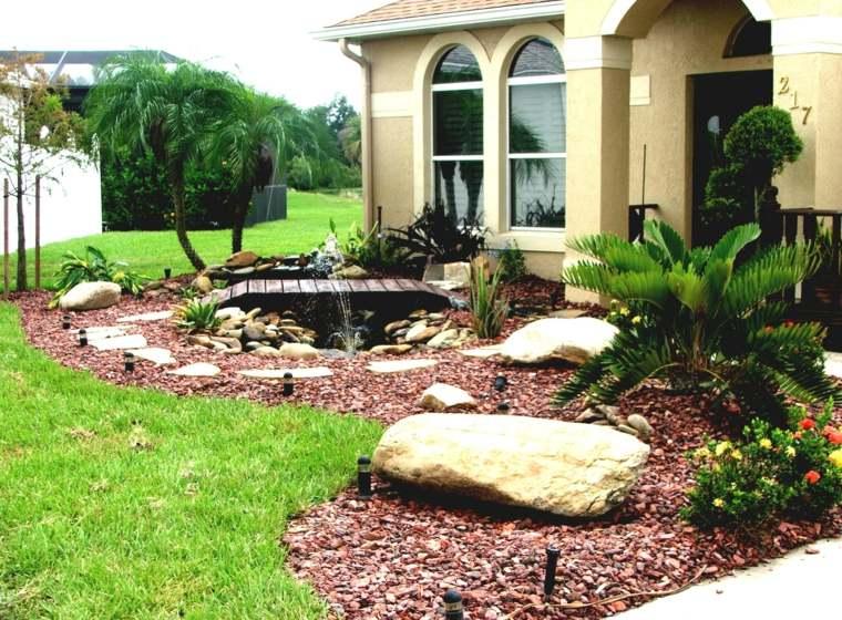 piedras decorativas estilo tropical