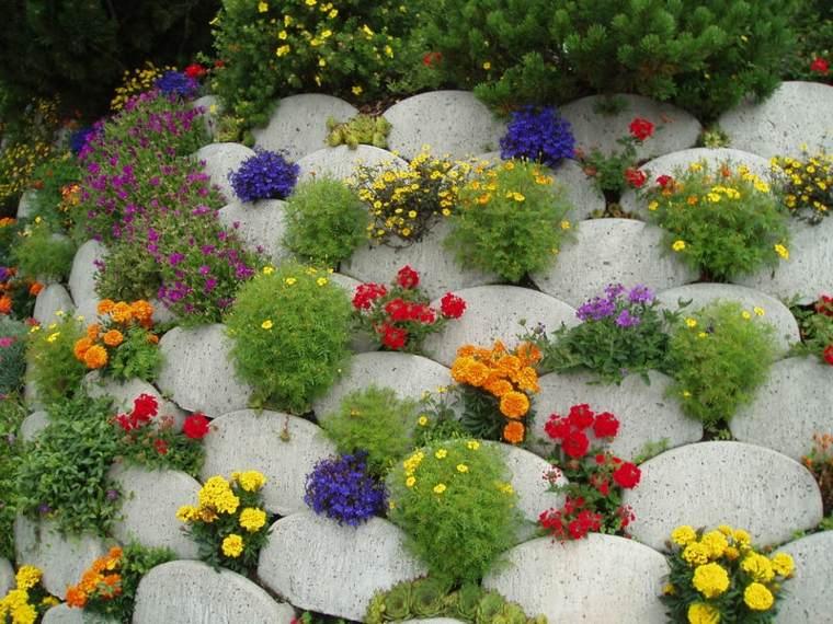 piedras ornamentales flores