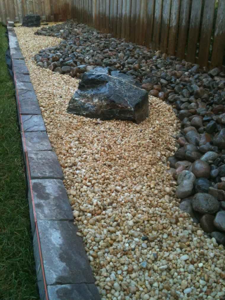 piedras río para jardín formas
