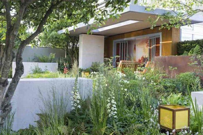 plantas natural jardines lineas lamparas