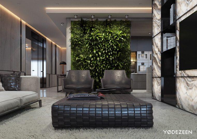 plantas paredes espacios suelos cuero