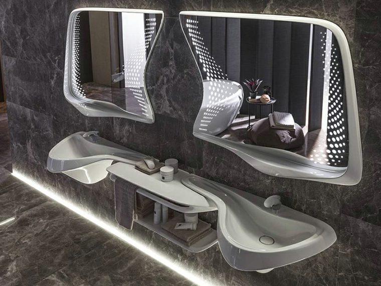 porcelanosa banos espejos lavabos opciones decor ideas