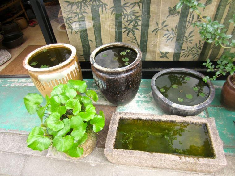 recipientes estanques terraza diy jardines