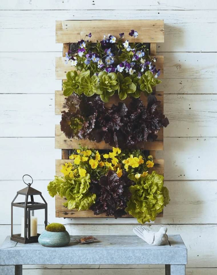 Jardin Vertical Pallet. Y Cre Tu Jardn Vertical With Jardin Vertical ...