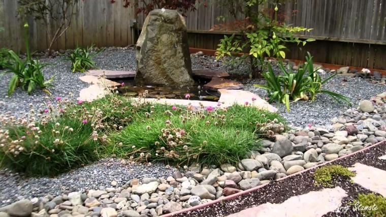 roca fuente jardin zen