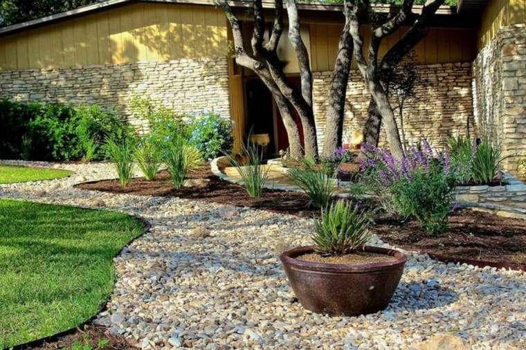 rocas decorativas para jardín maceta