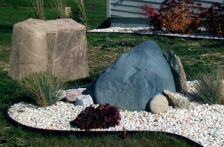 rocas decorativas para jardín