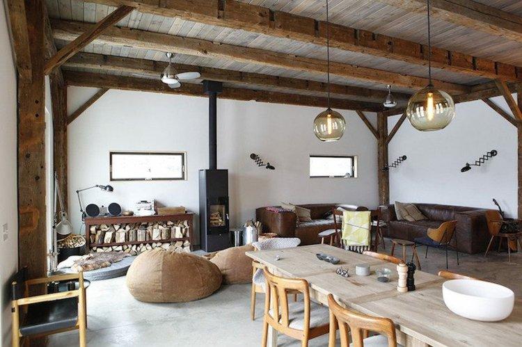 rustico espacio casa comedores madera