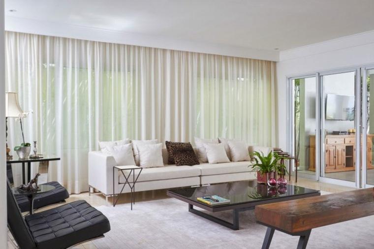 salón elegante residencia blanco