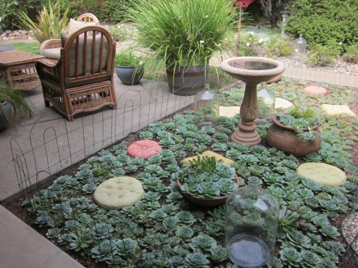 segmento patio decorado ideas cojines