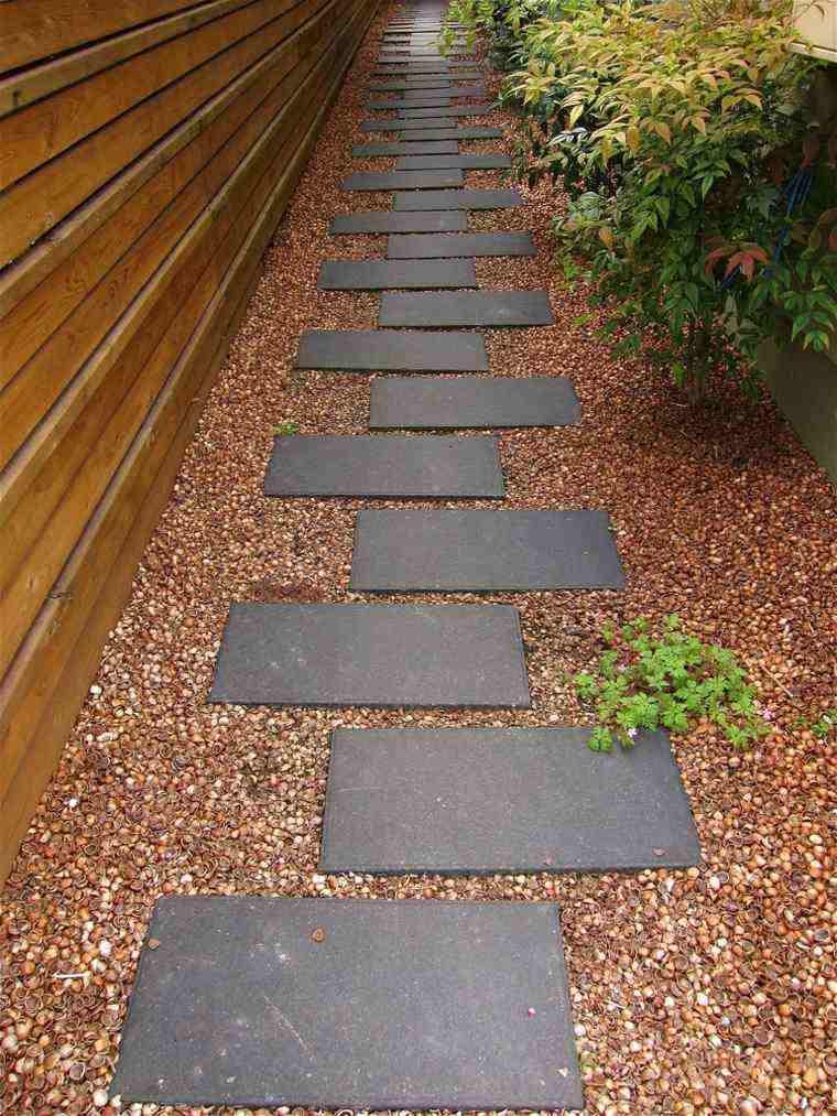Suelos senderos y caminos de jard n en 48 im genes - Gravas para jardin ...