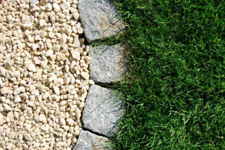separador jardin adoquines piedras grava