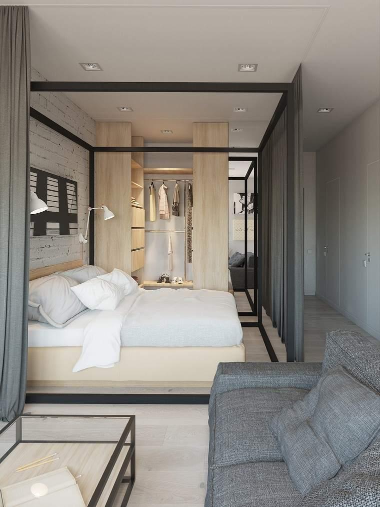 separadores cama cortinas sillon led