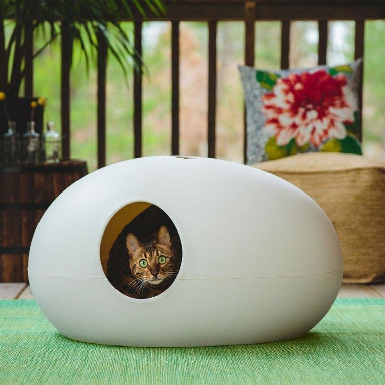 sofas para gatos forma huevo