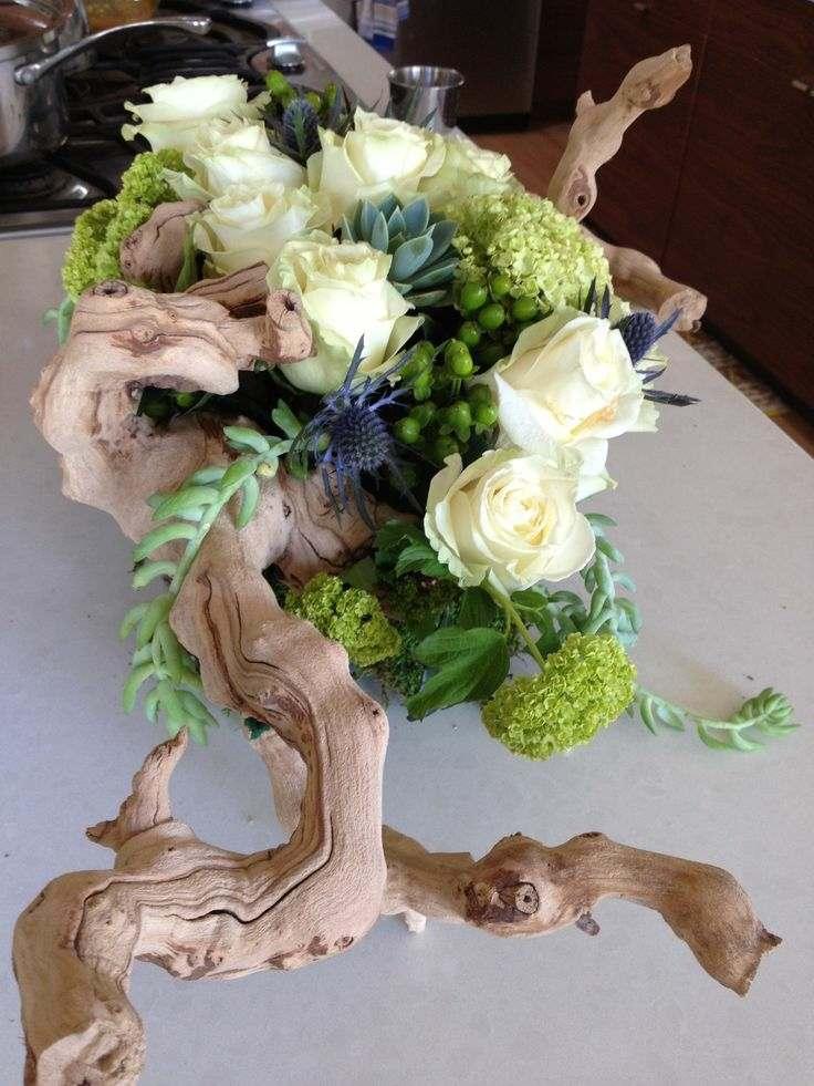 suculentas ideas madera vieja flores decoracion jardin rosas