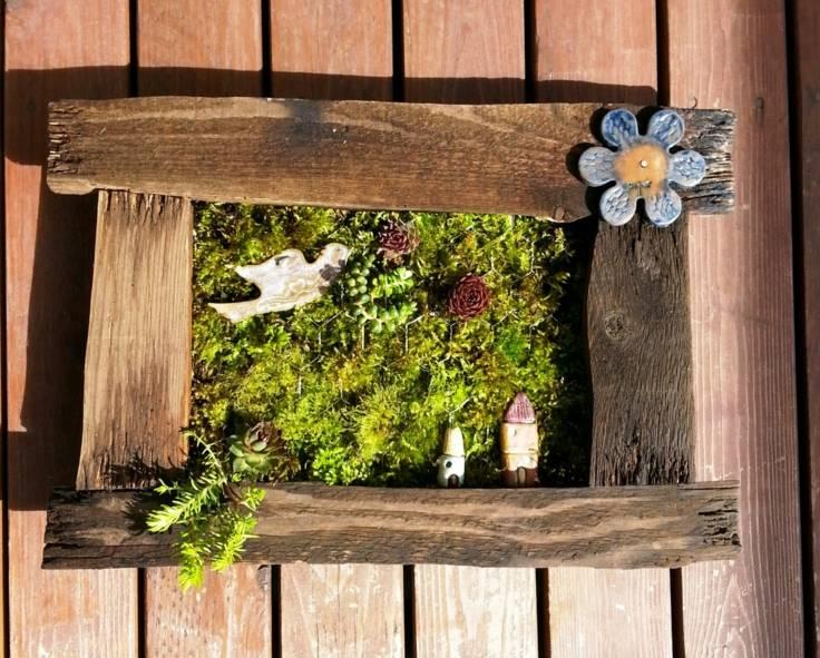 suculentas ideas madera vieja original decoracion cuadro artesania