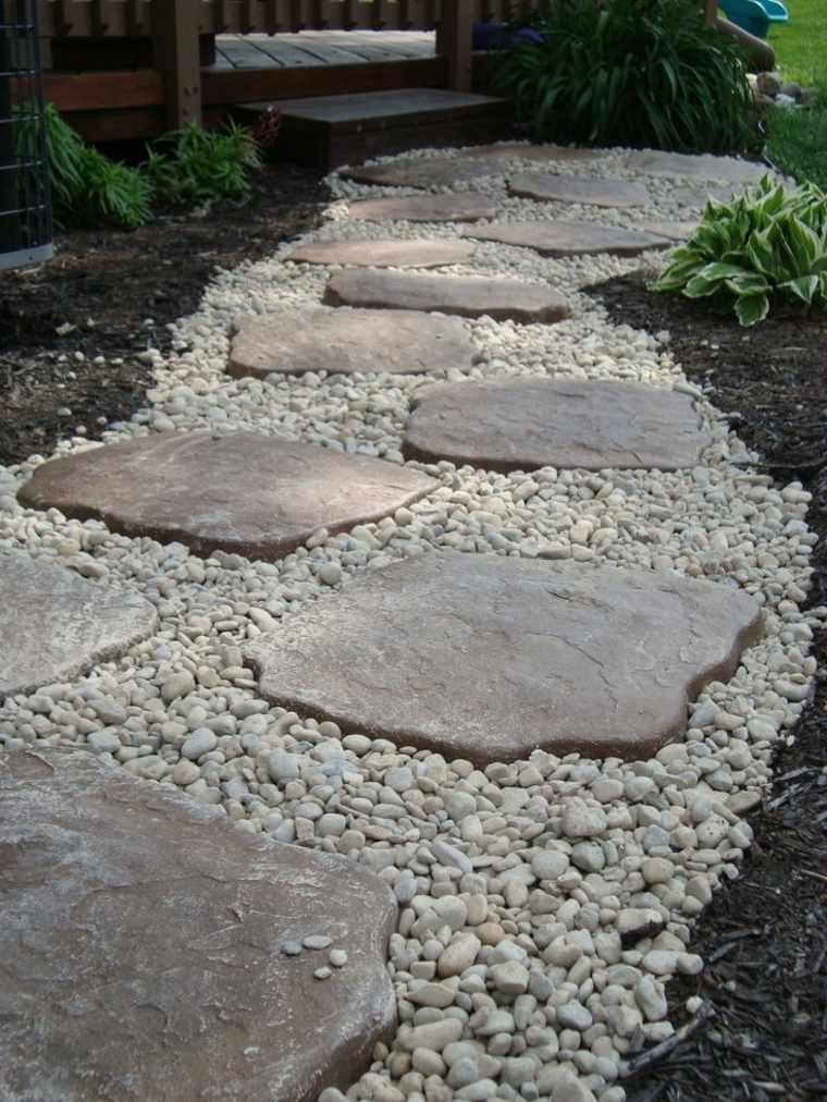 Suelos senderos y caminos de jard n en 48 im genes - Piedras suelo jardin ...