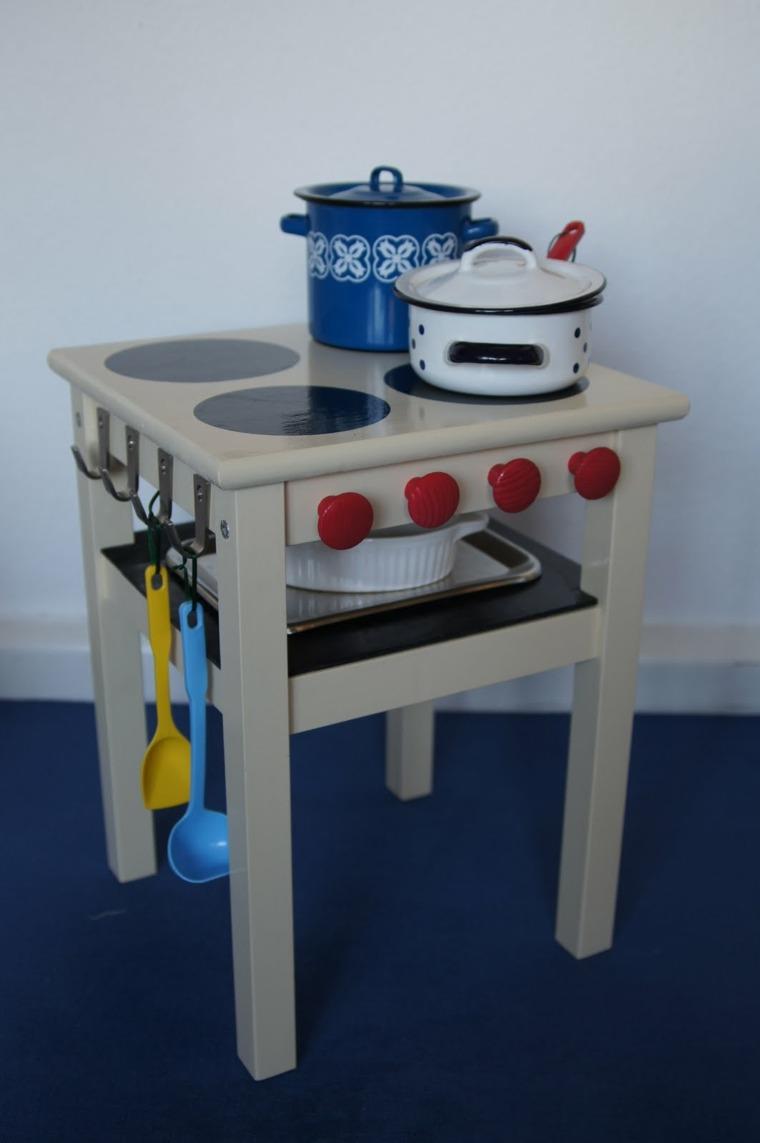 taburete pintura cocina pequena ninos juegos ideas