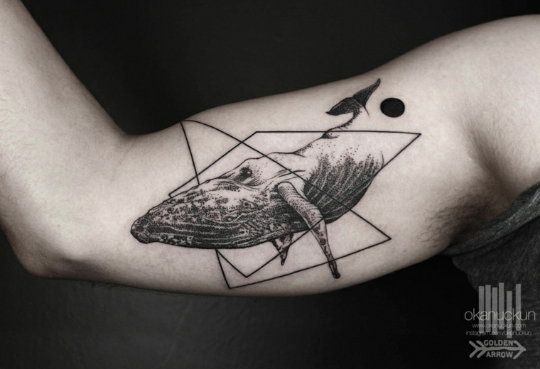 tatuaje ballena diseño Okan Uçkun