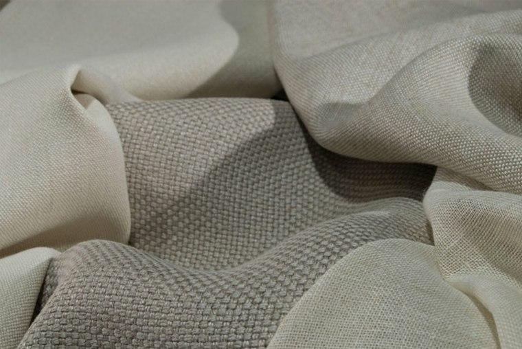 telas naturales color beige cortinas